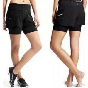 ATHLETA 2 in 1 Black Shorts Size XS